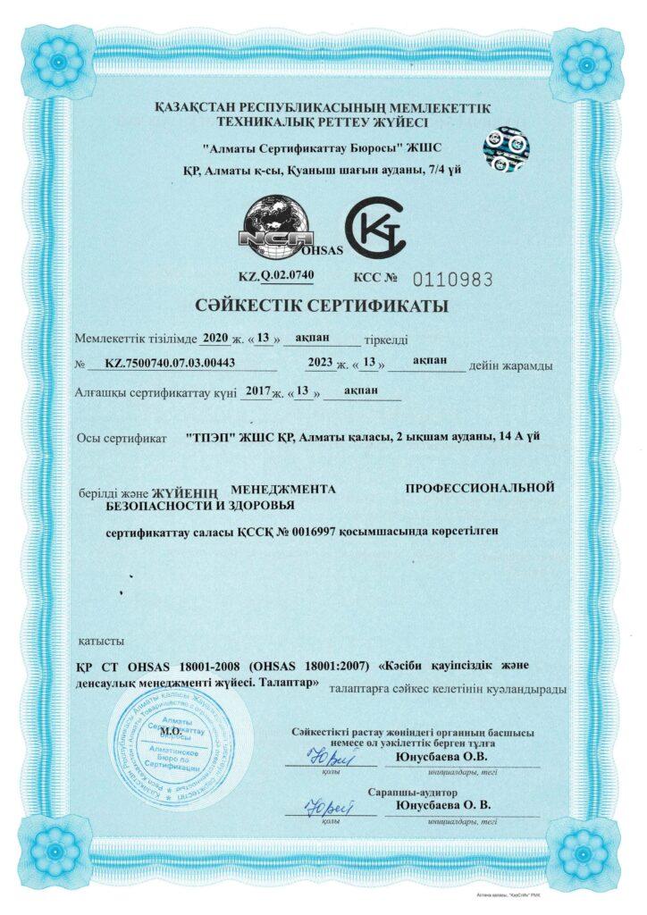 сертификат Безопасность и здоровья до 13.02.2023 0002